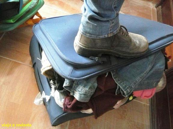 maleta chafada