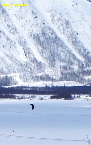 kite surf sobre hielo