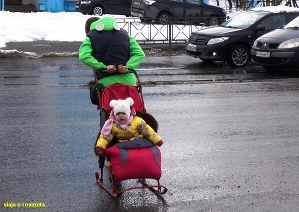 carrito bebe trineo
