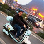 CHINA EN UNA MOTO GAY
